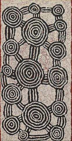 Pinta Pinta Tjapanangka (circa 1928-1999) Untitled (Rockhole Site of Malparingya)