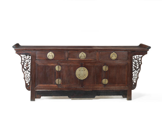A large hardwood side cabinet Qing Dynasty