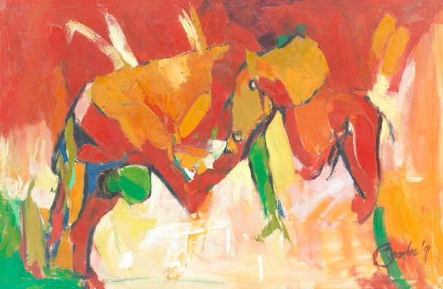 Ben Osaghae (Nigerian, born 1962) 'Mannerism'