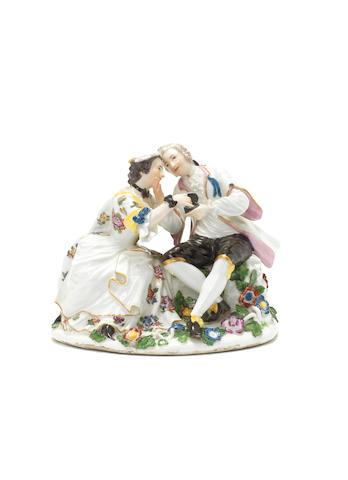 Liebespaar mit Schnupftabakdose, Meissen