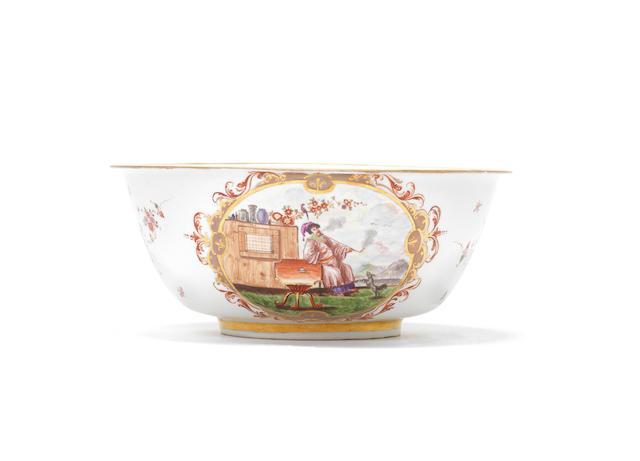 A rare Meissen waste bowl, circa 1722