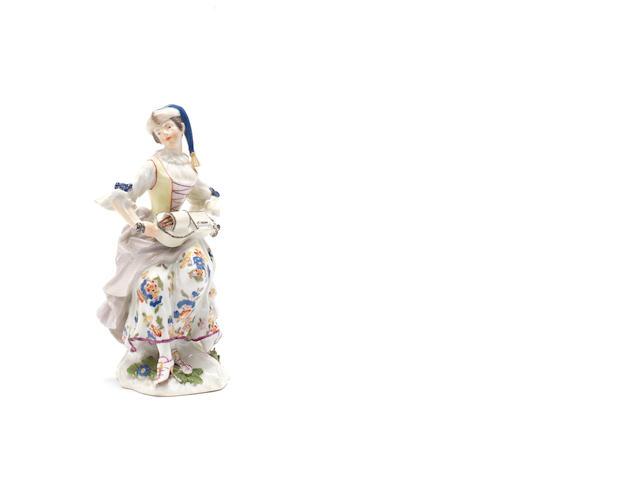 Meissen figure of Columbine (one hand lacking)