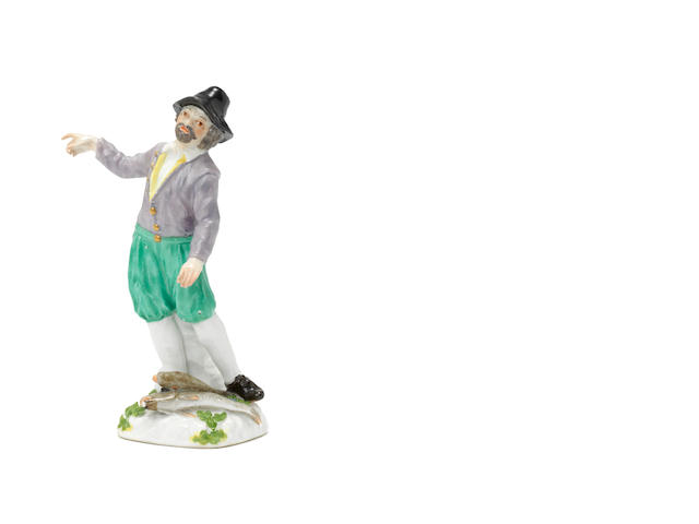 A Meissen figure of a Dutch Fisherman