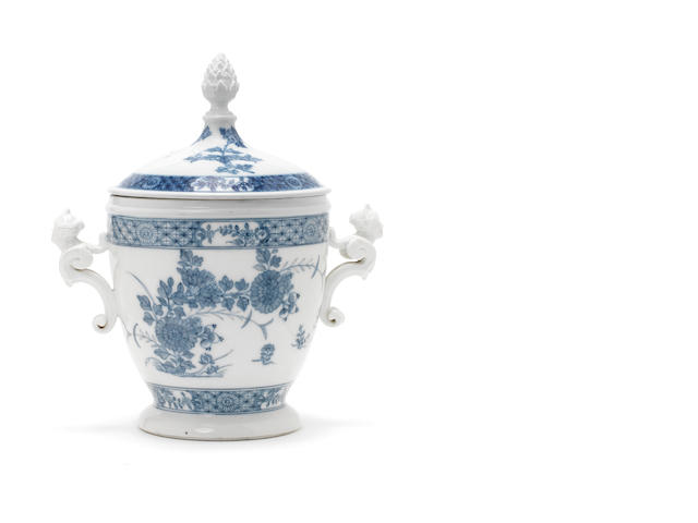 A Meissen vase and cover, blue and white