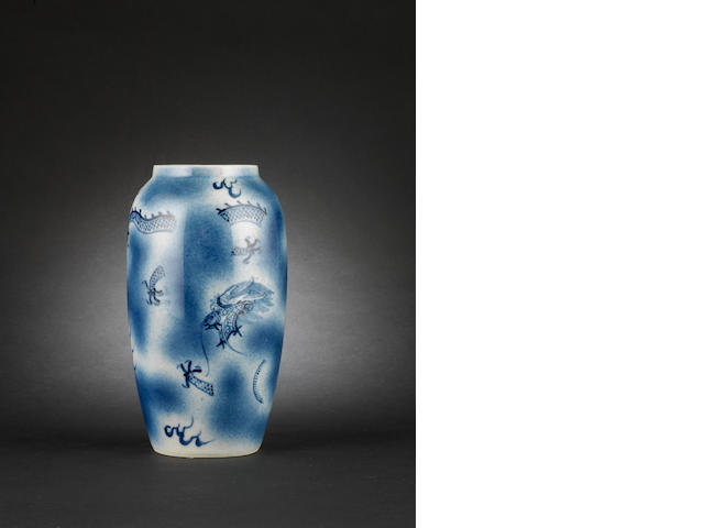 Blue and white vase Tongzhi four-character mark