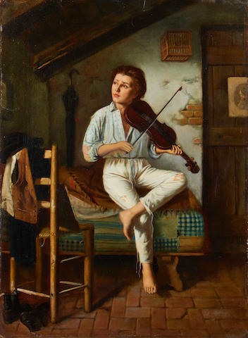Italian School, 19th Century The young fiddler