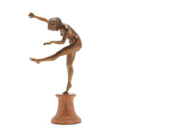 C. J. R. Colinet 'The Juggler' a Gilt Bronze Sculpture, circa 1920
