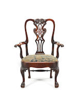 Six Chippendale style dining chairs