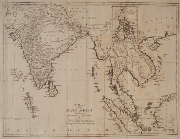 ASIA BLAIR (JOHN) A Map of the East Indies, 1768; and 8 other maps of Asia