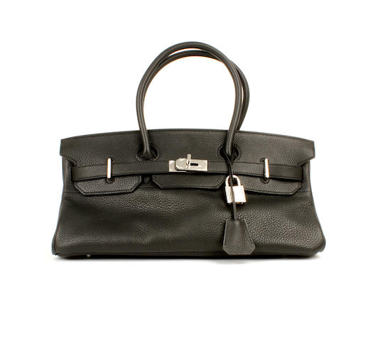 An Hermès black togo leather shoulder Birkin bag, 2008