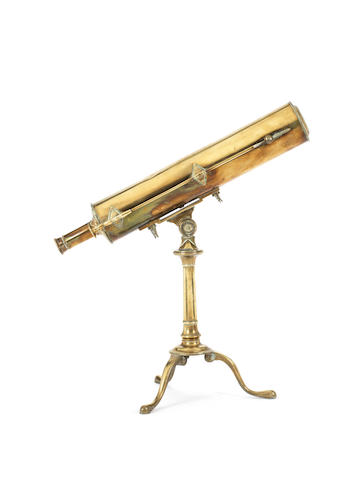 A 2-inch brass refracting converted from reflecting telescope,  English,  early 19th century,