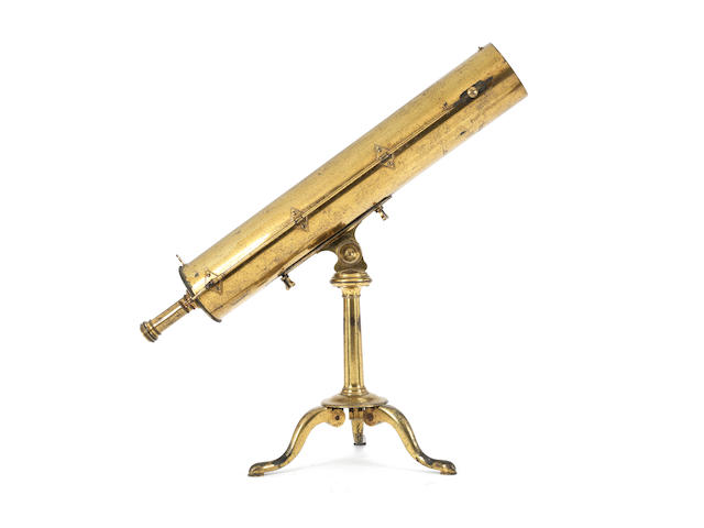 An Edward Nairne 4-inch brass Gregorian reflecting telescope, English, late 18th century,