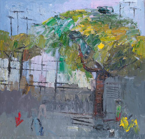 Duke Asidere (Nigerian, born 1961) 'Exploring Palmgrove' unframed