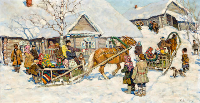 Konstantin Vysotskii Winter sleigh ride in the village 4,000-6,000 GBP London in June 2012