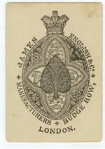 "An ""Eau D'Ambert"" advertising pack of cards, by James English, 1880,"