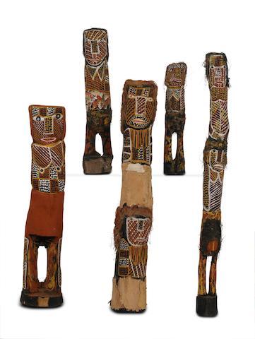 Carmelina Puantulura (circa 1957-2002) Five Bima Sculptures