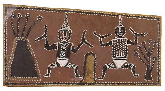 Paddy Jaminji (circa 1912-1996) Lissadel Ceremonial Figures