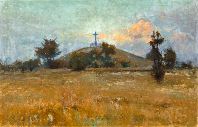 Iwan Trusz (Ukrainian, 1869-1941) Summer sunset