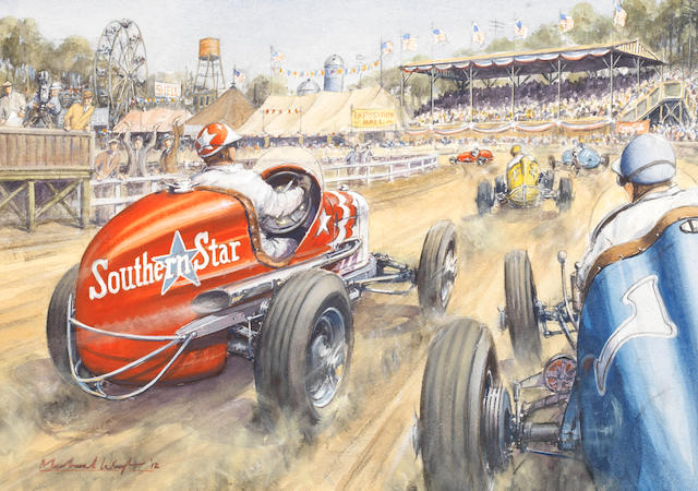 "Michael Wright (1935-) ""State Fair Dirt Track"","