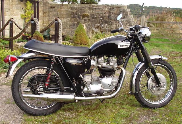 1968 Triumph 649cc T120R Bonneville Frame no. T120R DU77752 Engine no. T120R DU77752