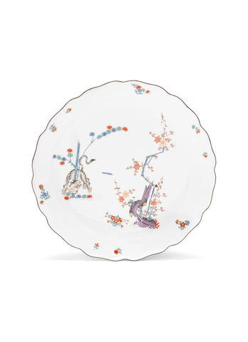 A Meissen circular dish - tiger