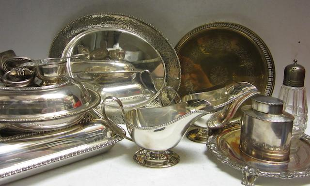 A pair of electroplated sauce boats,  by Mappin and Webb,   (Qty)