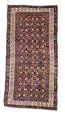 A Kurdish carpet West Persia, circa 1890, 13 ft 7 in x 6 ft 10 in (410 x 207 cm) one end outer guardstripe rewoven, other end minor restoration