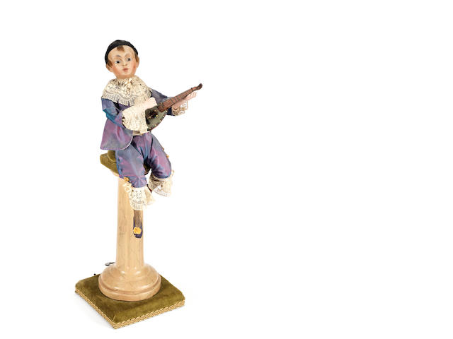 A lute player musical automaton, by G. Vichy, circa 1890,