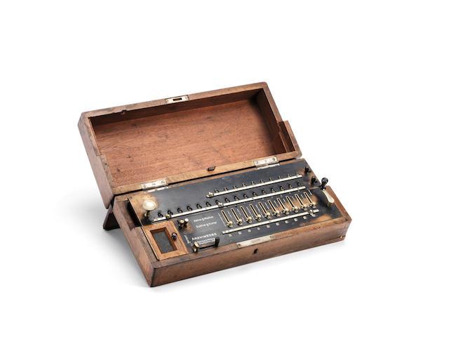 An Archimedes arithemometer, circa 1912,