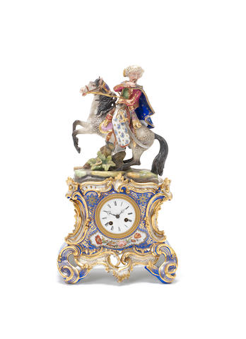 A French porcelain mantel clock