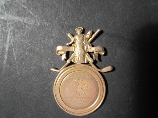 A 9 ct. gold golfing medal circa 1920s
