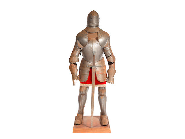 A Reproduction Suit of Armour and a Miniature Suit of Armour