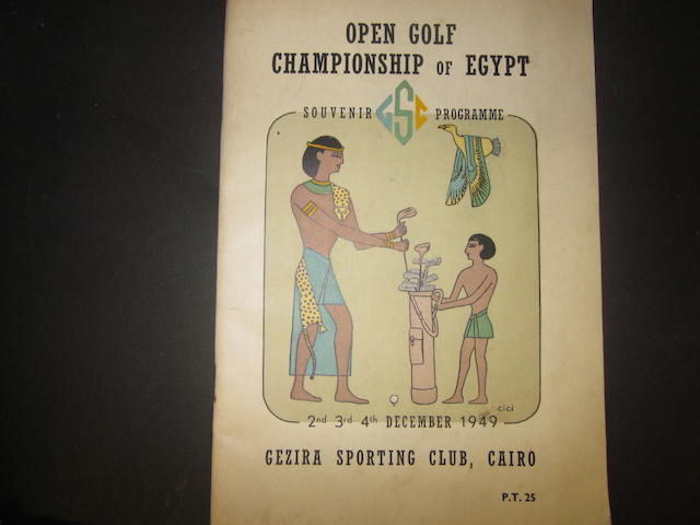A scarce 1949 Open Golf Championship of Egypt programme
