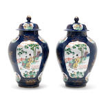 A pair of Samson vases, late 19th century