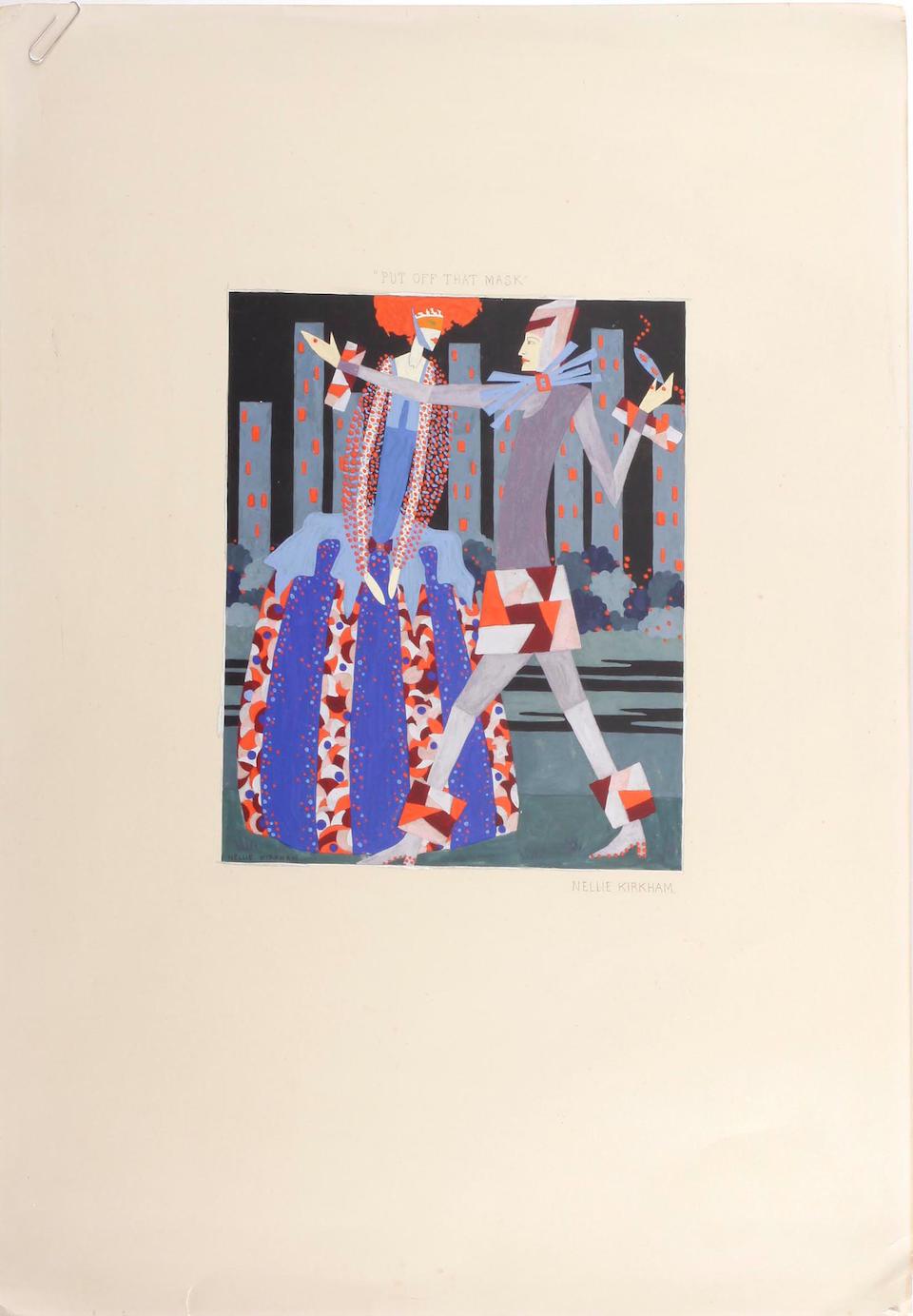 """Nellie Kirkham (died 1979), Nellie Kirkham (British d.1979) Illustration from """"House of Masks"""""""