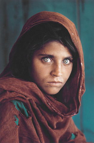 Steve McCurry, 'Afghan Girl', 1985, framed inkjet print, 45.6 x 30.5cm