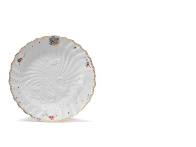 A Meissen dish from the Swan Service, circa 1738