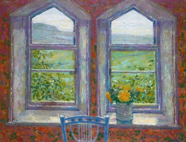 Jack Millar (British, 1921) Cottage window, Yorkshire Dales
