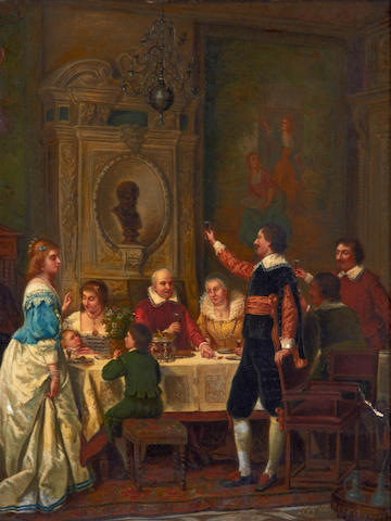 Circle of Florent Willems (Belgian, 1823-1905) A toast