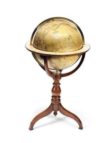 A Smith's 18-inch terrestrial library globe,  English, mid 19th century,