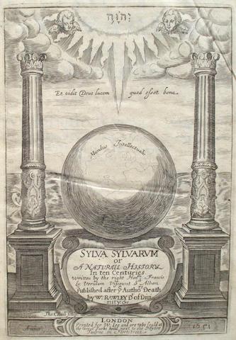 BACON (FRANCIS) Sylva Sylvarum: or A Naturall History, 1658