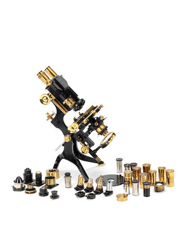 "A very fine Watson & Sons ""No. 1 Van Heurck"" binocular/monocular microscope, English,  circa 1938,"