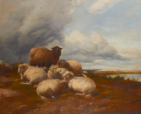 Thomas Sidney Cooper, RA (British, 1803-1902) Sheep in a landscape