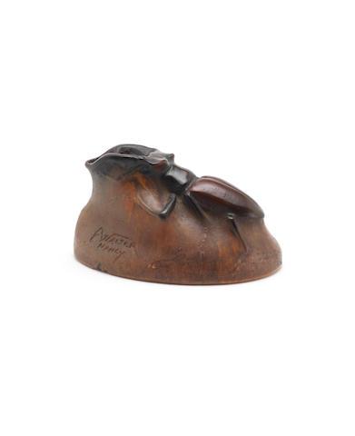 Henri Berge for Almeric Walter a Pate de Verre Model of a Beetle, circa 1920