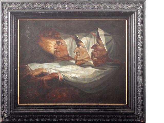 After Johann Heinrich Fuseli The weird sisters, from Macbeth