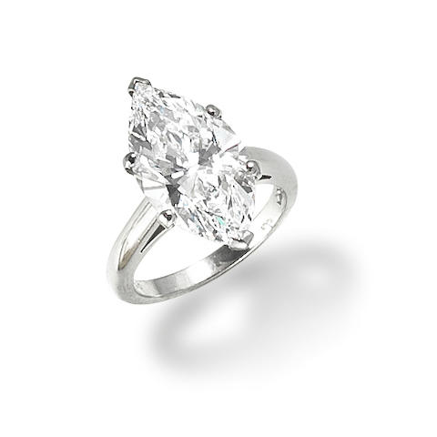 A diamond single-stone ring, mounted by Cartier