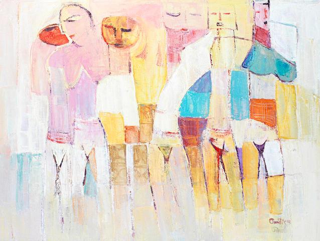 Sam Ovraiti (Nigerian, born 1961) Simple figures