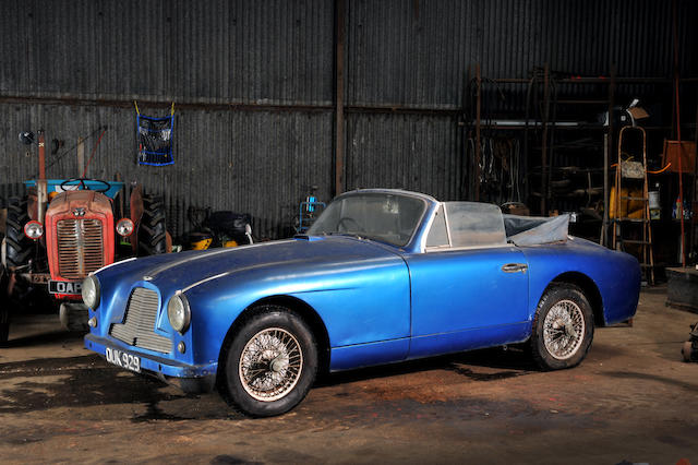 Recent barn discovery,1955 Aston Martin DB2/4 Drophead Coupé  Chassis no. LML/1009 Engine no. VB6J/543