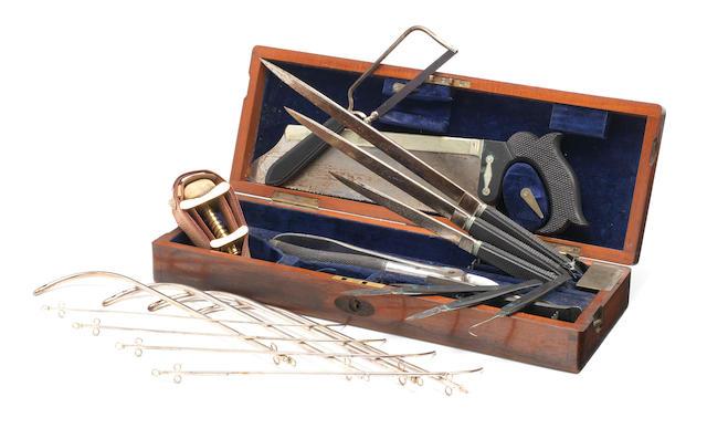 A surgeon's amputation set,  by Krohne & Sesemann, mid 19th century,