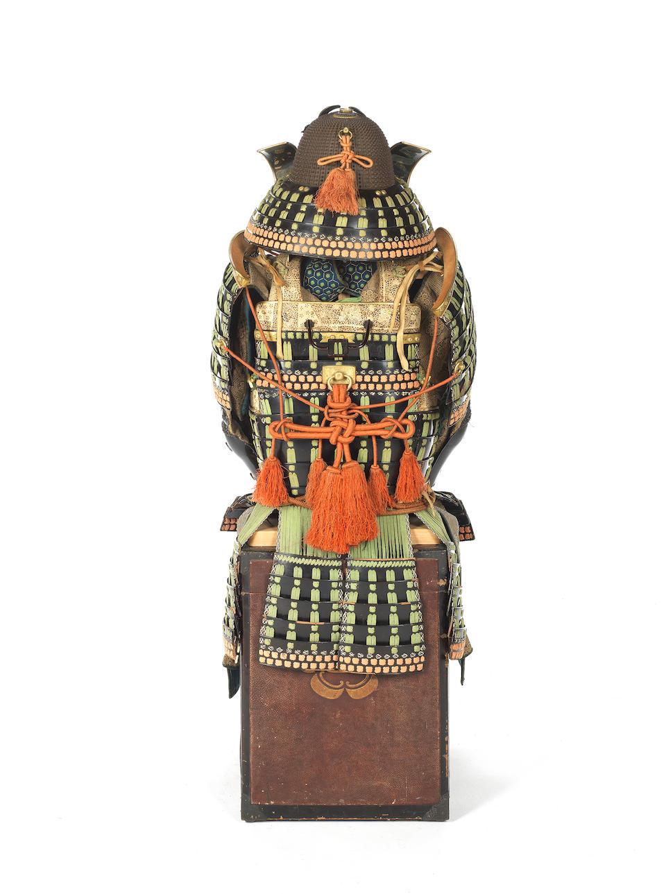 A mogami do tosei gusoku armour Edo Period, 18th/19th century, the helmet signed by Joshu ju Saotome Ienao, Momoyama Period, 16th century